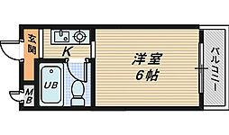 大阪府堺市北区東三国ヶ丘町5丁の賃貸マンションの間取り