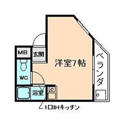 吉永ビル多田駅前I[3階]の間取り