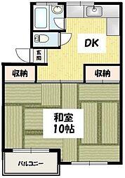 東京都港区高輪4丁目の賃貸マンションの間取り