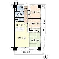間取り(最上階・東南角部屋・L字バルコニー)