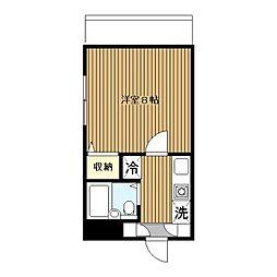 第3野本ビル[201号室]の間取り