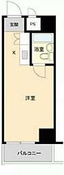 トップ浅草NO.1 8階ワンルームの間取り