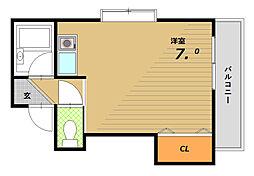 マリン須磨(フローラル須磨)[4階]の間取り