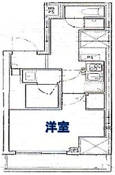 ロイヤル東栄日本橋 4階1Kの間取り