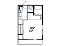 小田急小田原線 相武台前駅 徒歩2分の賃貸アパート 1階1Kの間取り