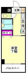ベルトピアエグゼ福岡[506号室]の間取り