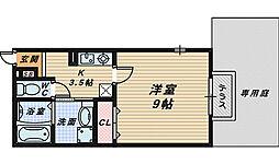 大阪府泉大津市田中町の賃貸アパートの間取り