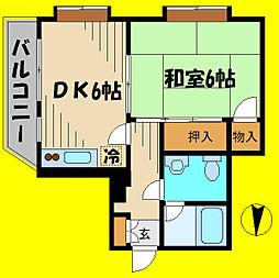 イーグル東所沢[4階]の間取り