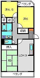 神奈川県横浜市港南区最戸2丁目の賃貸マンションの間取り