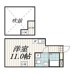 THE・ROOM新検見川(ザ・ルームシンケミガワ)[208b号室]の間取り