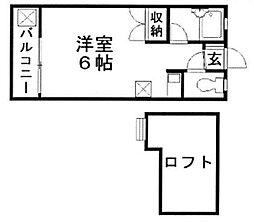 SPACE七隈[203号室]の間取り
