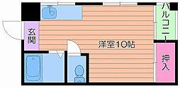 奥村第3ハイツ[3階]の間取り