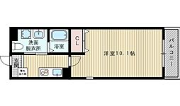 JR東海道・山陽本線 岸辺駅 徒歩8分の賃貸マンション 3階1Kの間取り