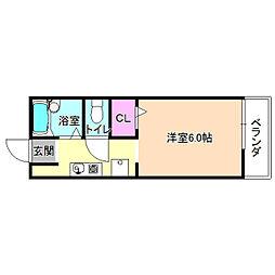 スクエアガーデン[1階]の間取り