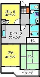 エクセレントビュー第3[203号室]の間取り