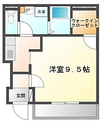 エトワール桜[1階]の間取り