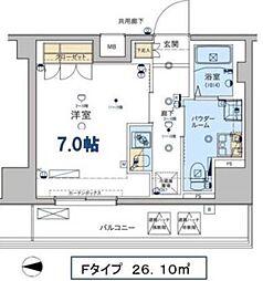 ジェノヴィア東日本橋駅前グリーンヴェール[13階]の間取り