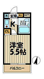 クリオ本郷台壱番館[304号室]の間取り