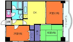 兵庫県神戸市東灘区本山南町1丁目の賃貸マンションの間取り