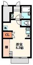 TOKIO国領 1階ワンルームの間取り