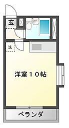 愛知県豊橋市東雲町の賃貸アパートの間取り