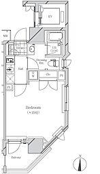 フトゥールス南麻布[4階]の間取り