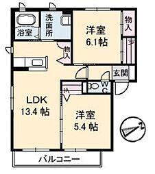 プロスペリーテ C[2階]の間取り