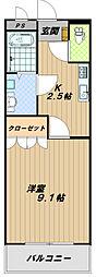 兵庫県神戸市西区白水3丁目の賃貸マンションの間取り