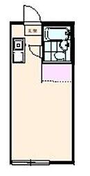 サクラハウス国立アパート 1階ワンルームの間取り