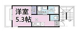 JR京浜東北・根岸線 大宮駅 徒歩11分の賃貸アパート 2階1Kの間取り