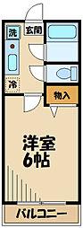 京王相模原線 京王多摩センター駅 徒歩10分の賃貸マンション 1階1Kの間取り