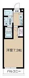 JR中央線 阿佐ヶ谷駅 徒歩9分の賃貸マンション 2階1Kの間取り