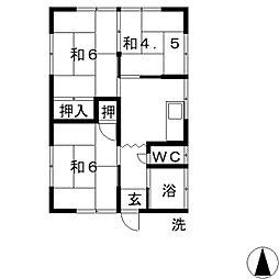 [一戸建] 岡山県倉敷市玉島柏台1丁目 の賃貸【/】の間取り