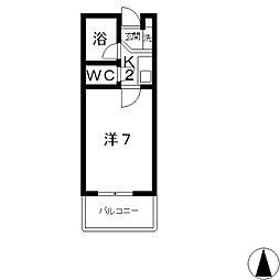 ミヨシマンション幸[402号室]の間取り