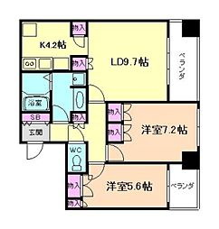 ザ・梅田タワー[9階]の間取り