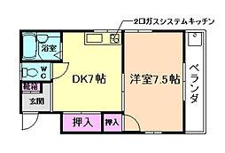 むつみ荘[3階]の間取り