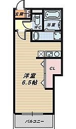 大阪府大阪市城東区成育3丁目の賃貸アパートの間取り