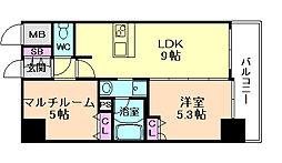 エステムプラザ梅田[11階]の間取り