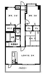 ヴェルドミール[5階]の間取り