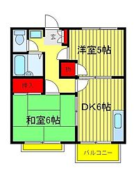 エステートピア八幡I[2階]の間取り