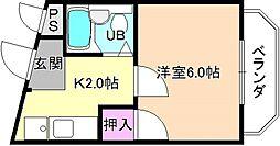 メゾンエトワール[4階]の間取り