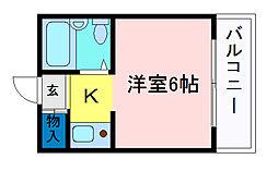 メゾンニューレダー[3階]の間取り