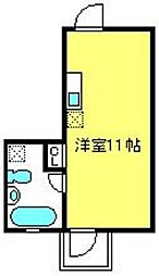 浅間町ハウス[203号室]の間取り