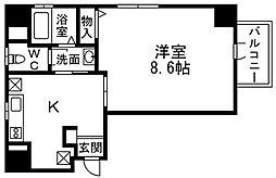 大和[6階]の間取り