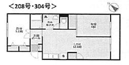 神奈川県横浜市緑区長津田3丁目の賃貸マンションの間取り