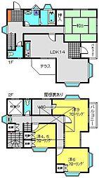 [一戸建] 神奈川県横浜市磯子区岡村7丁目 の賃貸【/】の間取り