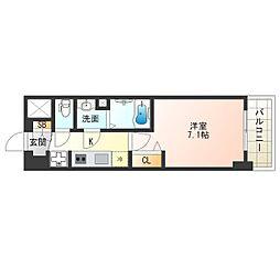 阪神なんば線 九条駅 徒歩4分の賃貸マンション 2階1Kの間取り