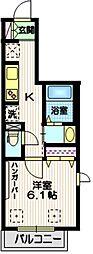 (仮称)大森東5丁目メゾン 2階1Kの間取り