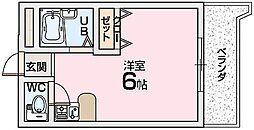 シャンテー長尾家具[4階]の間取り