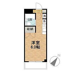 ジェイラム横濱[402号室]の間取り